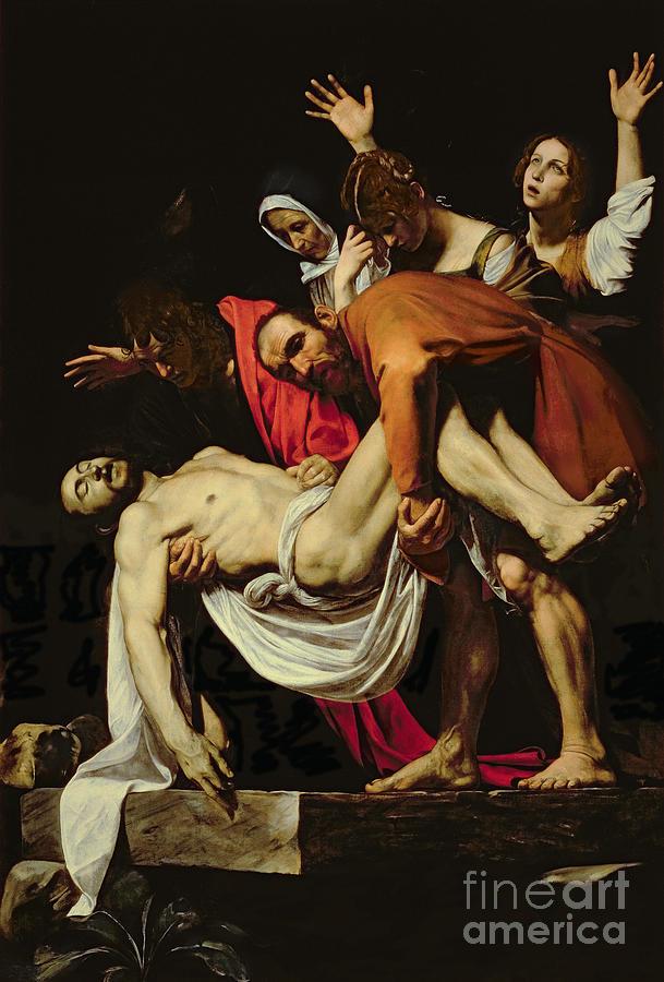 Deposition Painting - Deposition by Michelangelo Merisi da Caravaggio