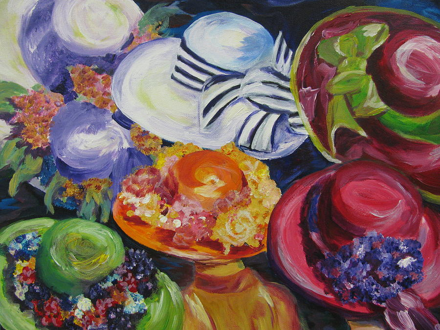 Kentucky Derby Painting - Derby Hats by Dani Altieri Marinucci