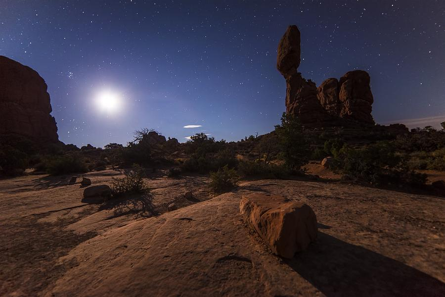 Desert At Night Photograph By Fl Collection