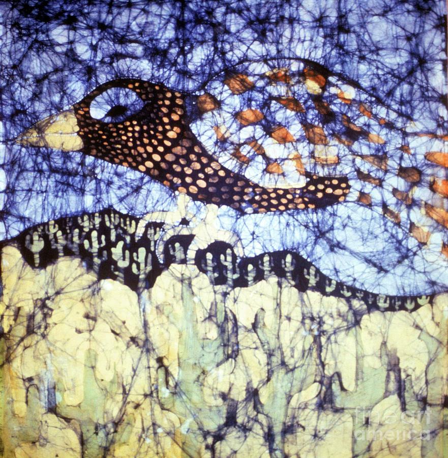 Desert Tapestry - Textile - Desert Crow by Carol Law Conklin