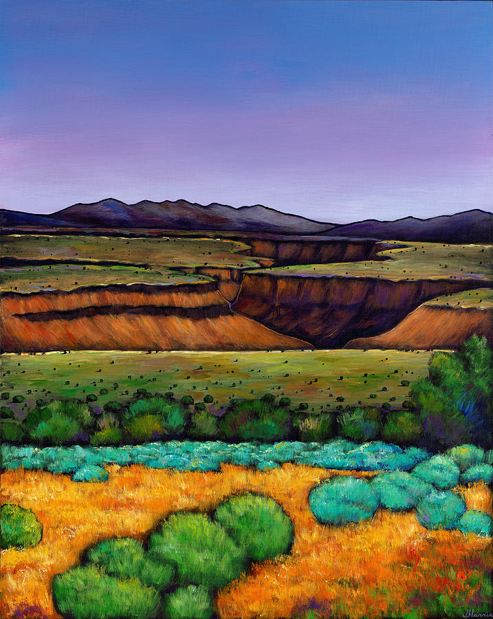 Landscape Painting - Desert Gorge by Johnathan Harris