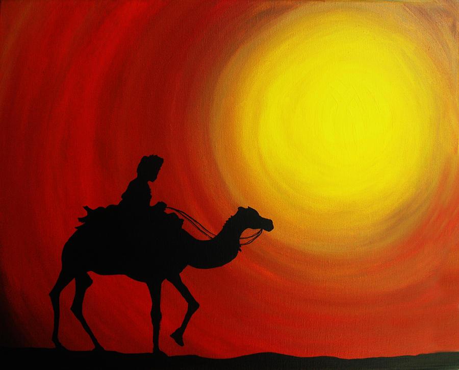 Adventure  Painting - Desert King by Ramneek Narang