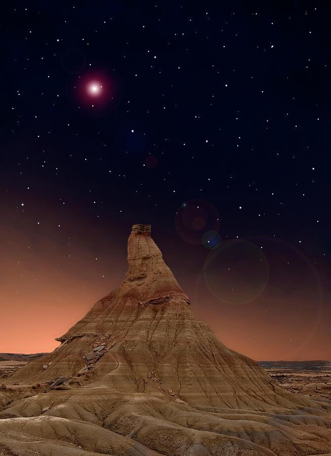 Vertical Photograph - Desert Night by Inigo Cia