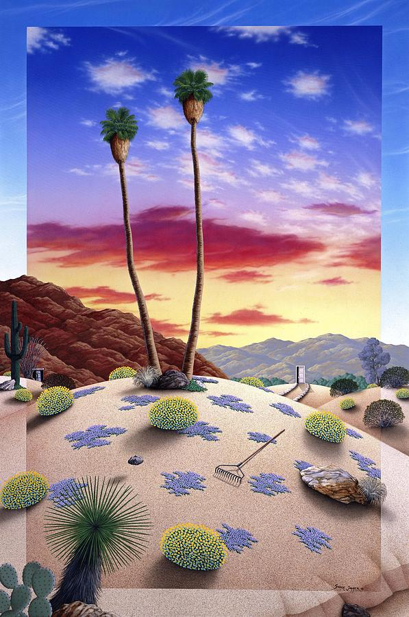 Desert Sunrise Painting by Snake Jagger