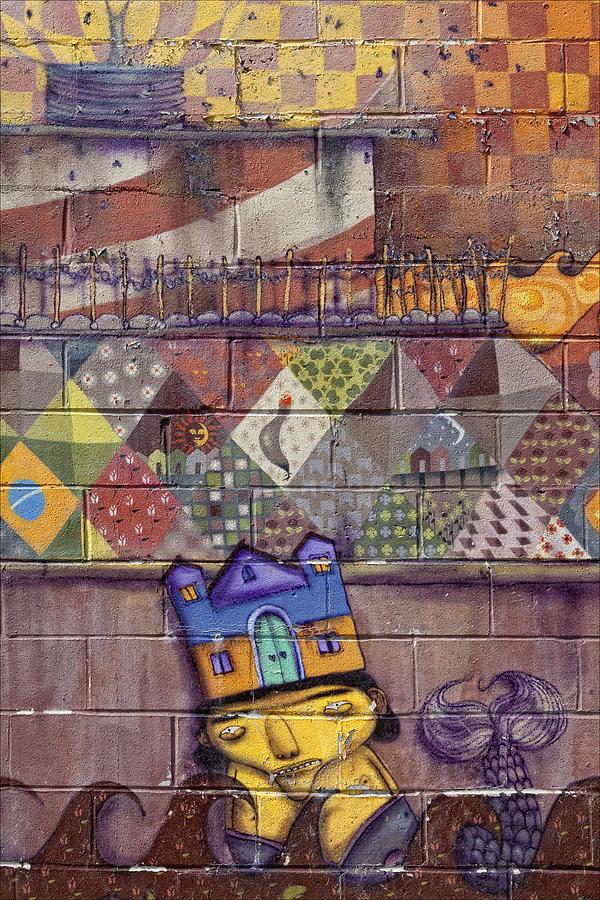 Mural Photograph - Detail - Mural Coney Island 2 by Robert Ullmann