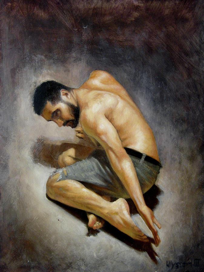 Man Painting - Detail Study by Ulysses Albert III