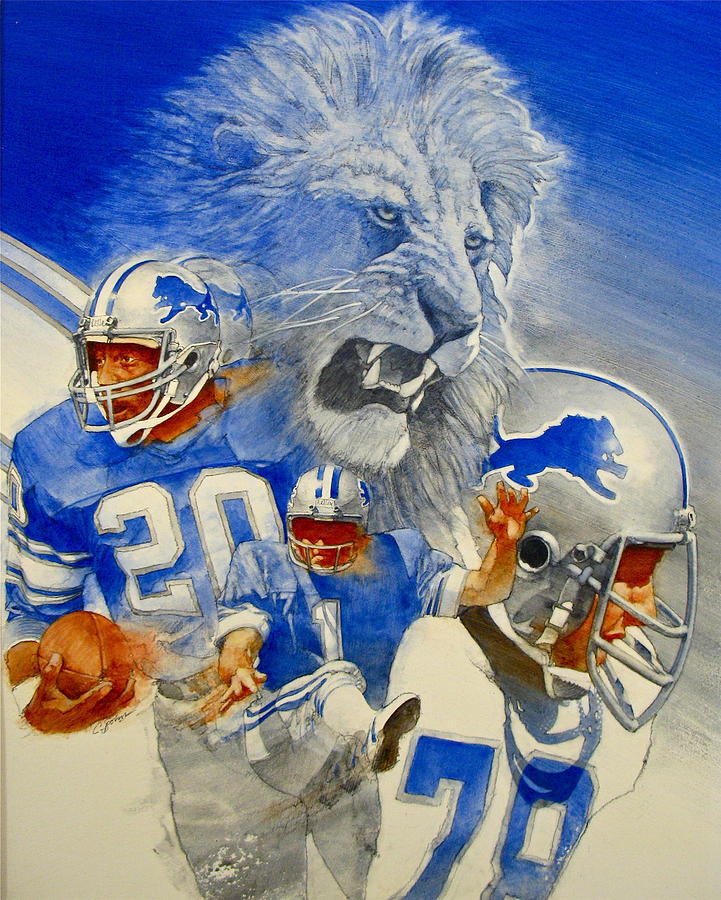 Acrylic Painting - Detroit Lions Game Day Cover by Cliff Spohn