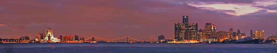 Detroit Photograph - Detroit Skyline by Michael Peychich