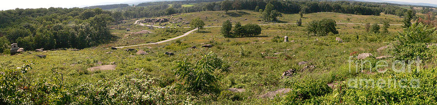 Panorama Photograph - Devils Den From Little Round Top by David Bearden