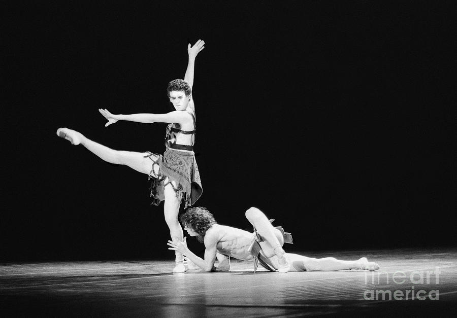 Photo; Photography; Photographs; Posters; Black And White; Stage; Entertainment; Dance; Dancers; Dance Company Photograph - Devotion by Philippe Taka