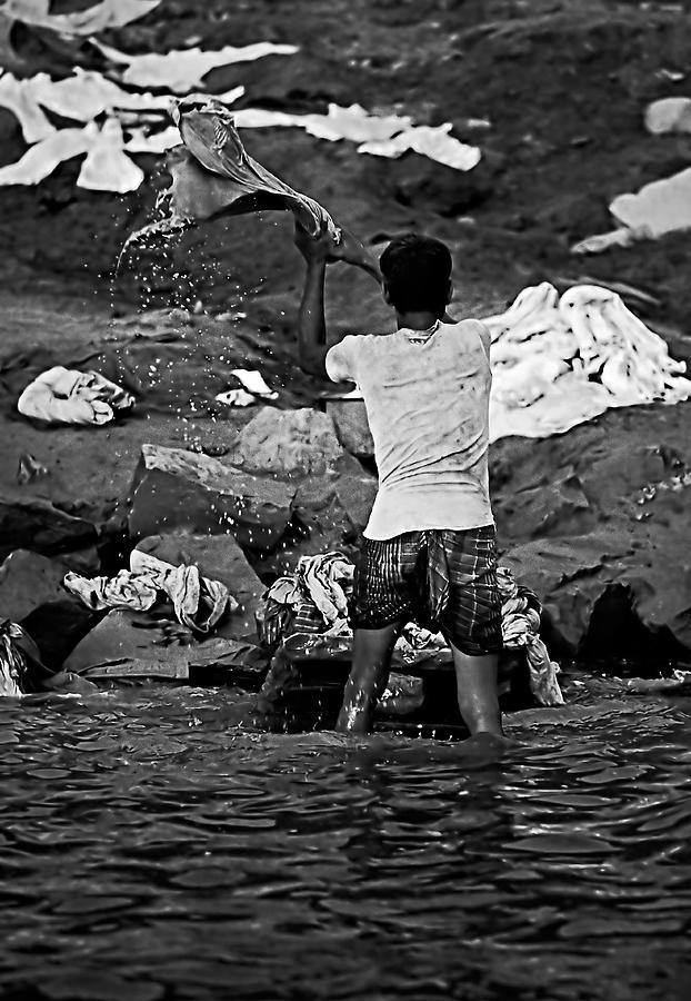 Dhobi Wallah Bw Photograph