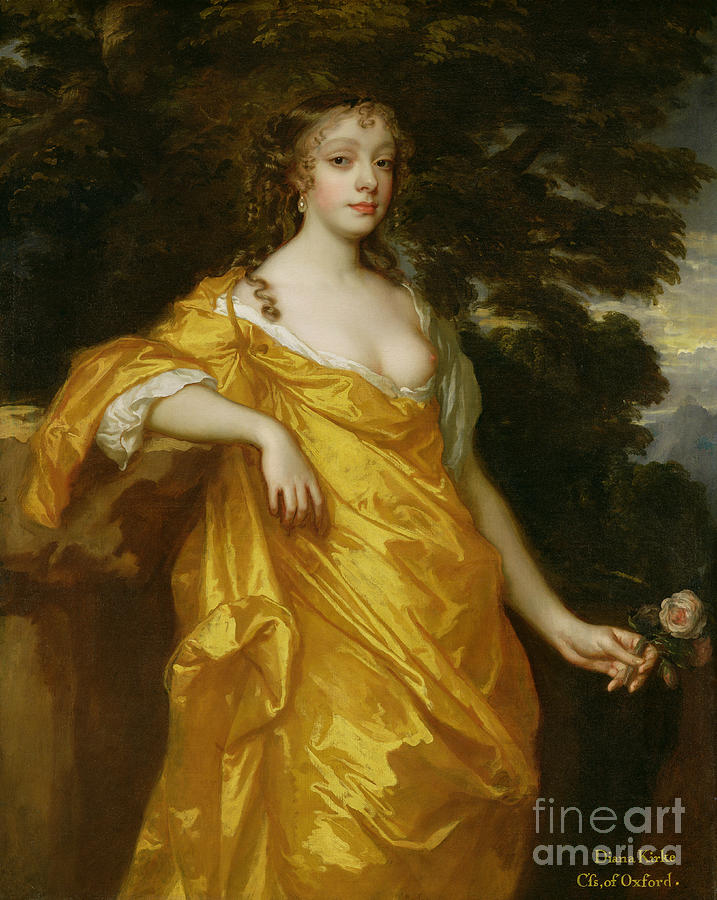 Diana Painting - Diana Kirke-later Countess Of Oxford by Sir Peter Lely