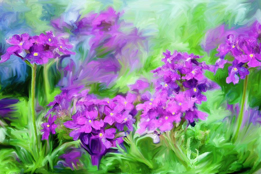 Dianthus Flowers Painting