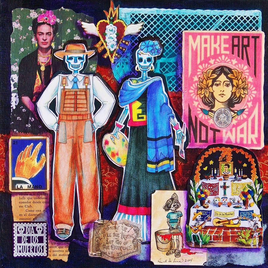 Diego And Frida Mixed Media