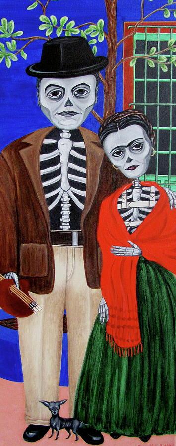 Diego Rivera Painting - Diego Y Frida by Evangelina Portillo