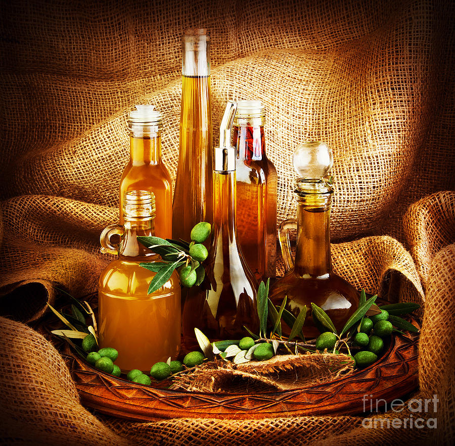 Different Salad Dressings Photograph
