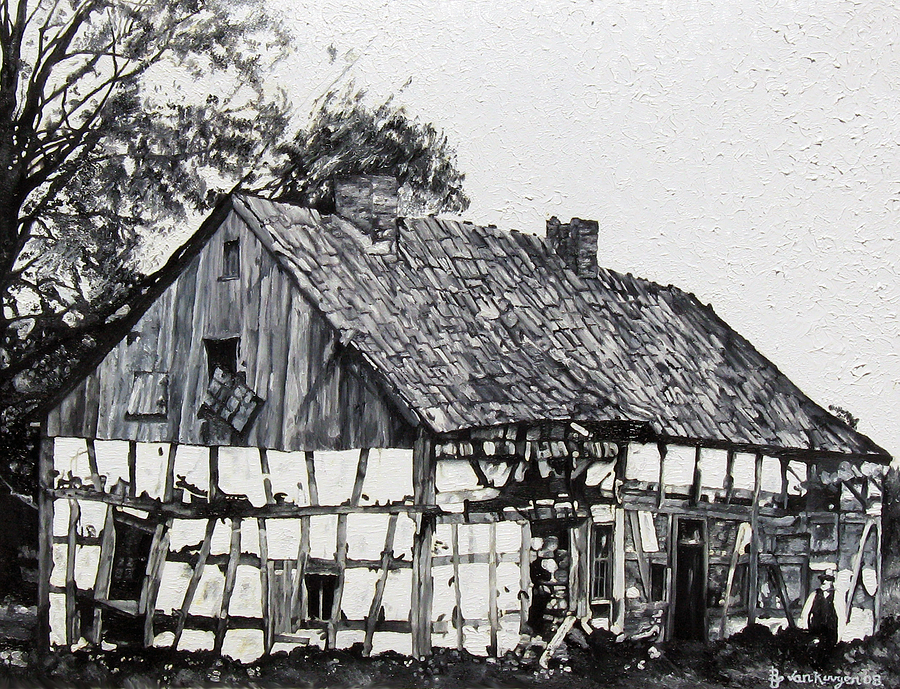 Architectural Painting - Dilapidated Abode by Ben Van Rooyen