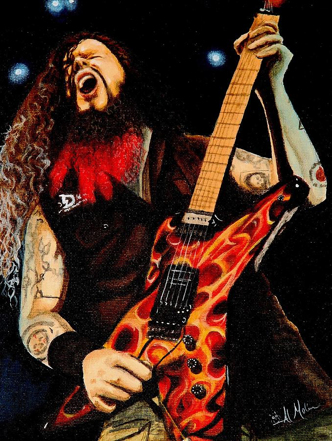 Metal Painting - Dimebag At His Best by Al  Molina
