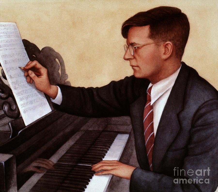 20th Century Photograph - Dimitri Shostakovich by Granger