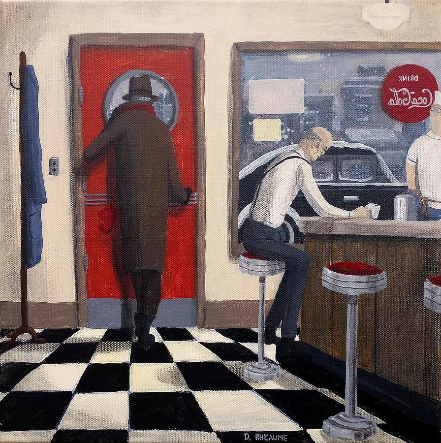 Diner painting by dave rheaume for Diner artwork