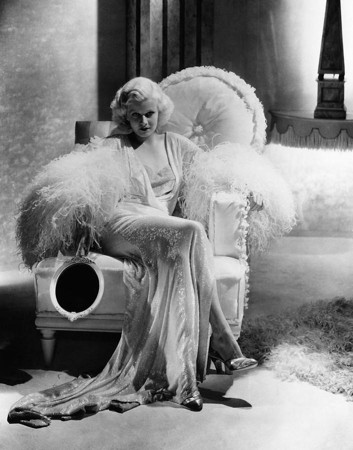 1930s Hairstyles Photograph - Dinner At Eight, Jean Harlow by Everett