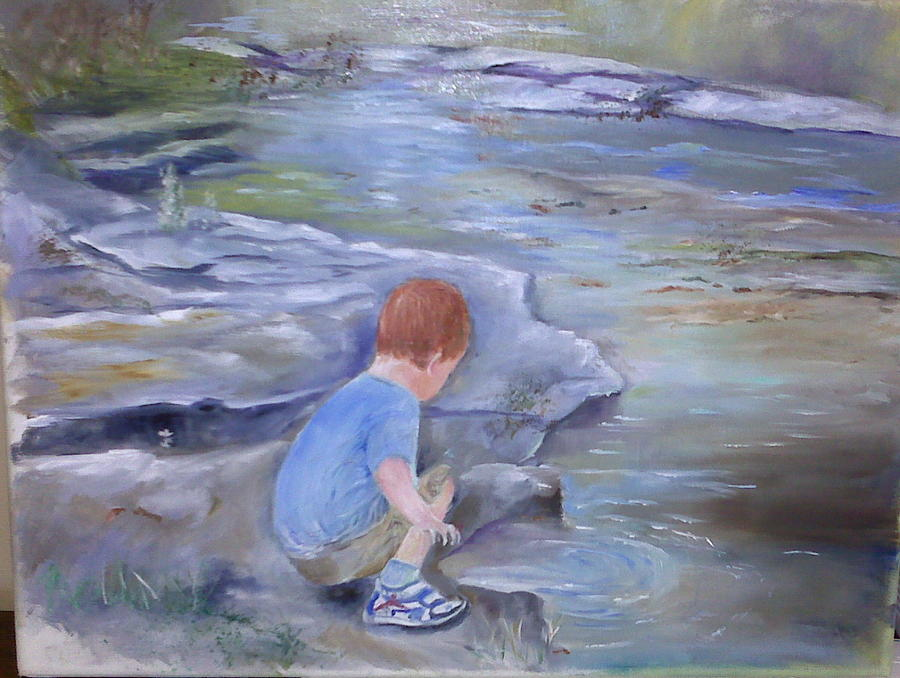 River Painting - Discovery by Vickie Shelton
