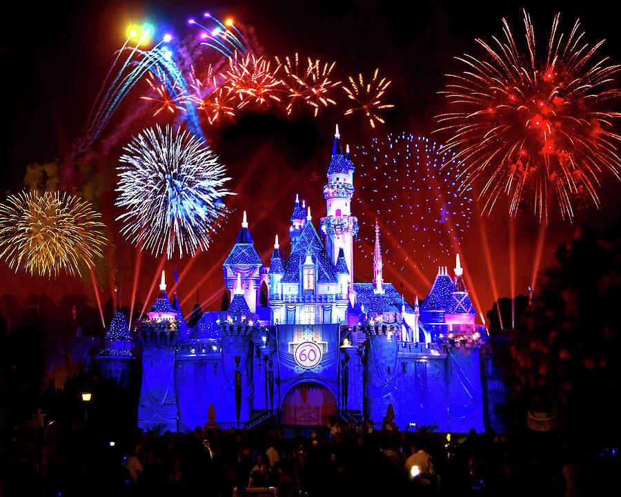 Disneyland 60th Anniversary Fireworks Photograph