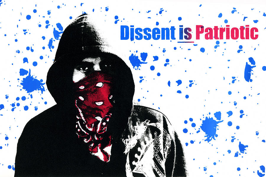 Screen Print Photograph - Dissent Is Patriotic by Jeffery Ball
