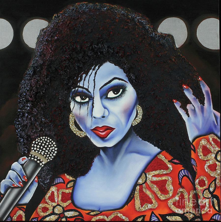 Portrait Painting - Diva Diana by Nannette Harris