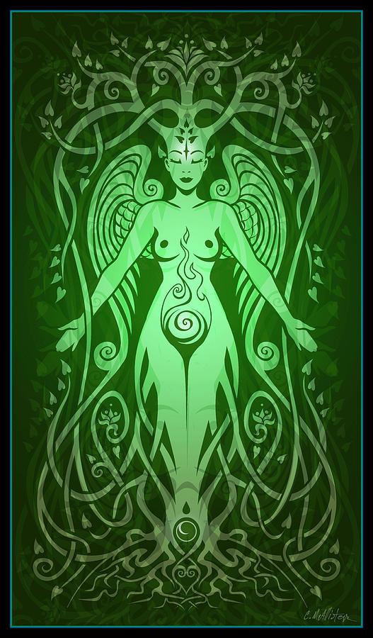 Goddess Digital Art - Divine Life by Cristina McAllister