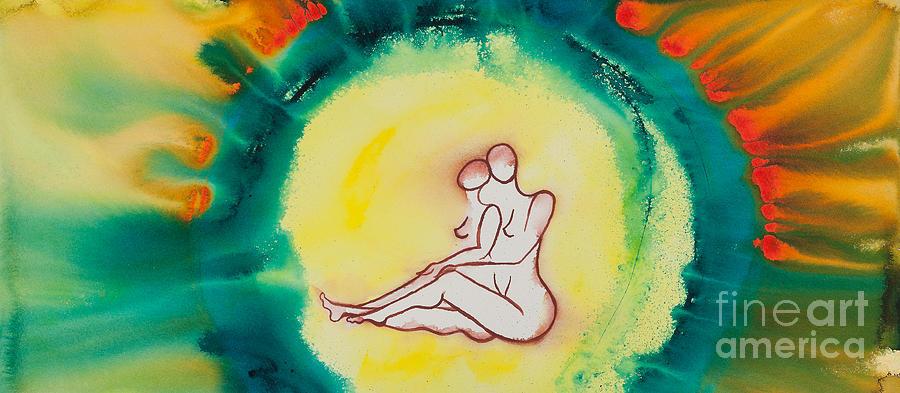 Ilisa Millermoon Painting - Divine Love Series No. 2086 by Ilisa  Millermoon