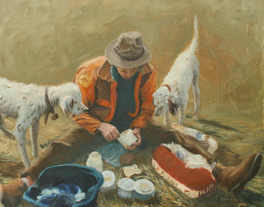 Quail Painting - Doc by Steve Haigh