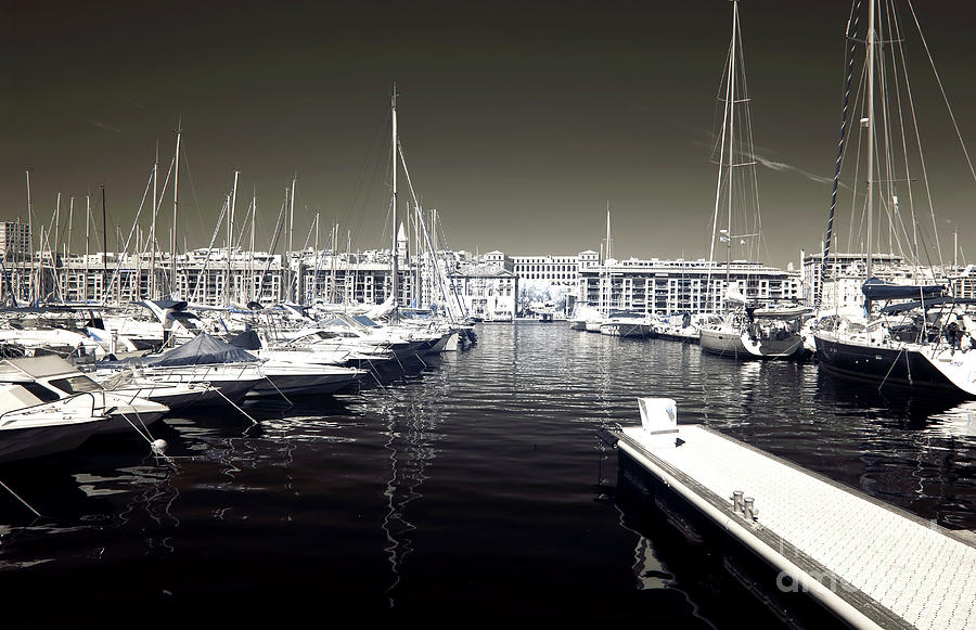 Dock In The Port Photograph - Dock In The Port by John Rizzuto