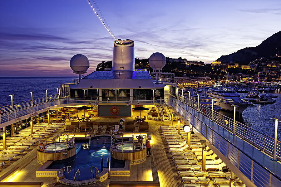 Monte Carlo Photograph - Docked In Monte Carlo by Janet Fikar