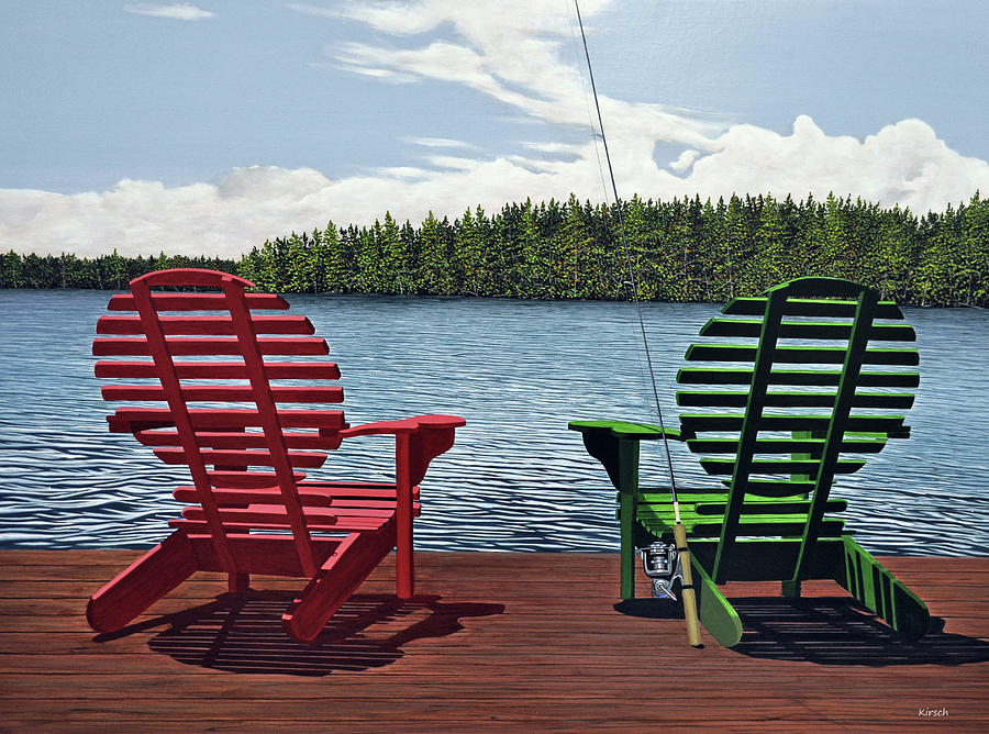 Landscapes Painting - Dockside by Kenneth M  Kirsch