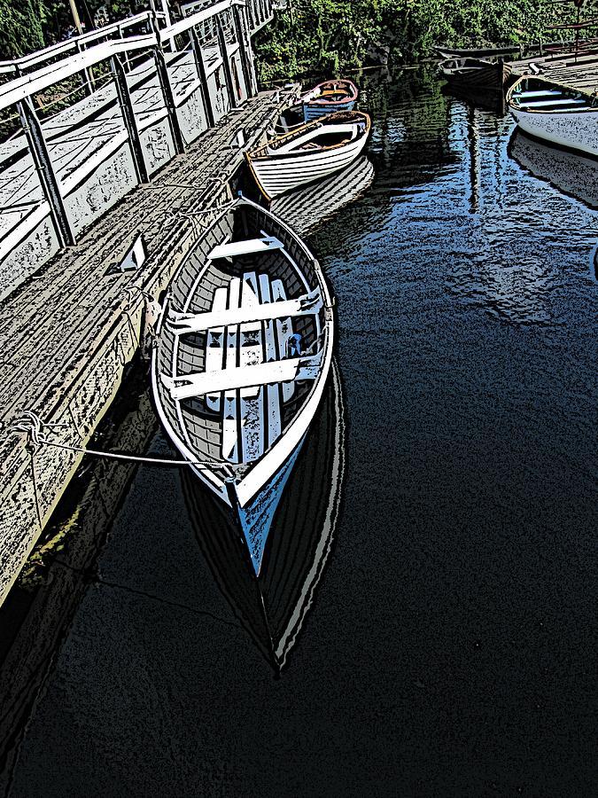 Dock Digital Art - Dockside Quietude by Tim Allen