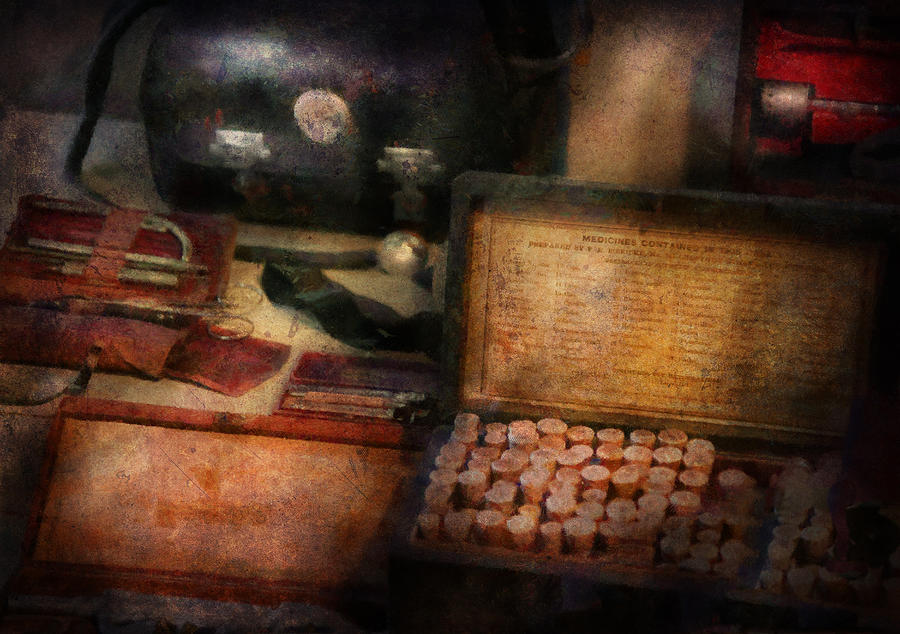Hdr Photograph - Doctor - Everything You Need To Be A Doctor by Mike Savad