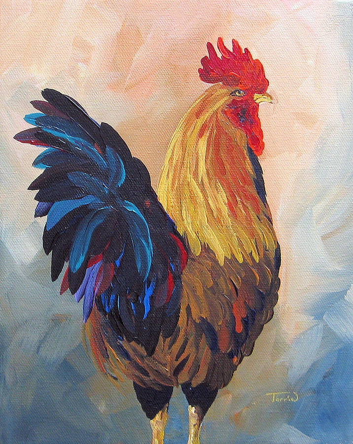 Rooster Painting - Does This Make My Butt Look Big by Torrie Smiley