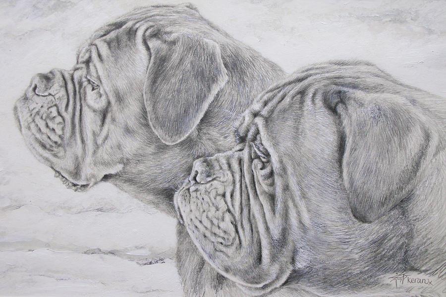 Dogs Painting - Dogue De Bordeaux by Keran Sunaski Gilmore