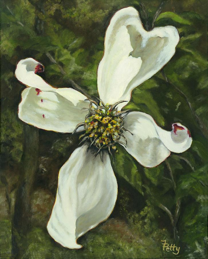 dogwood cross painting by freida petty