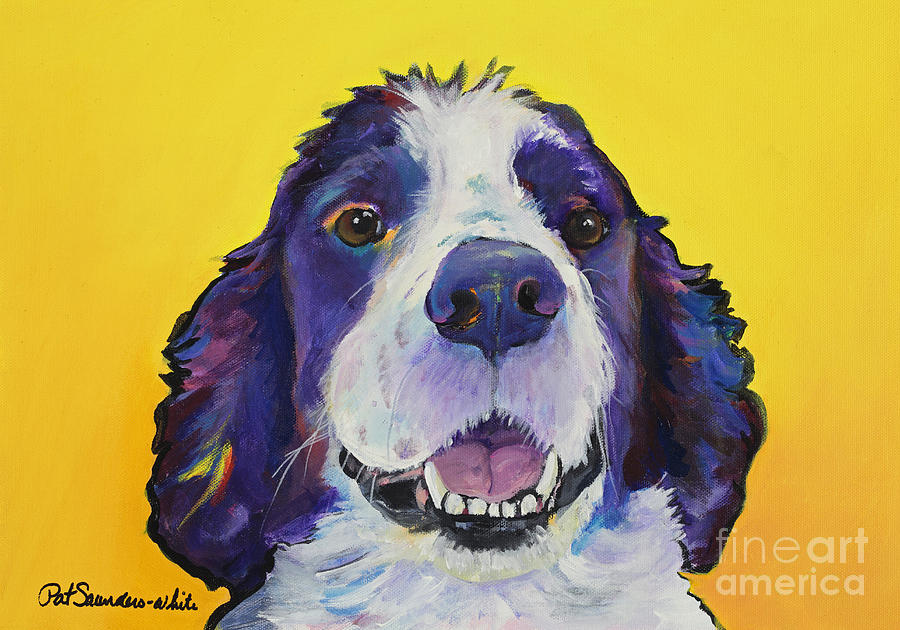 English Springer Spaniel Painting - Dolly by Pat Saunders-White
