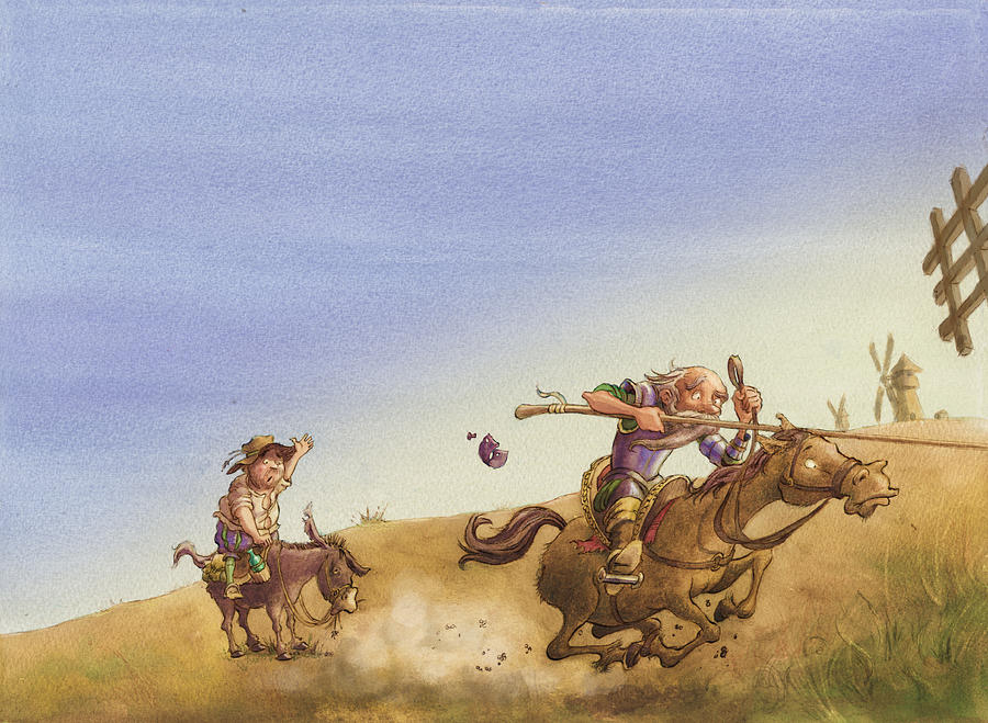 Don Quixote Painting - Don Quixote by Andy Catling
