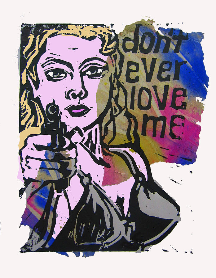 Mixed Media - dont ever love me III by Adam Kissel