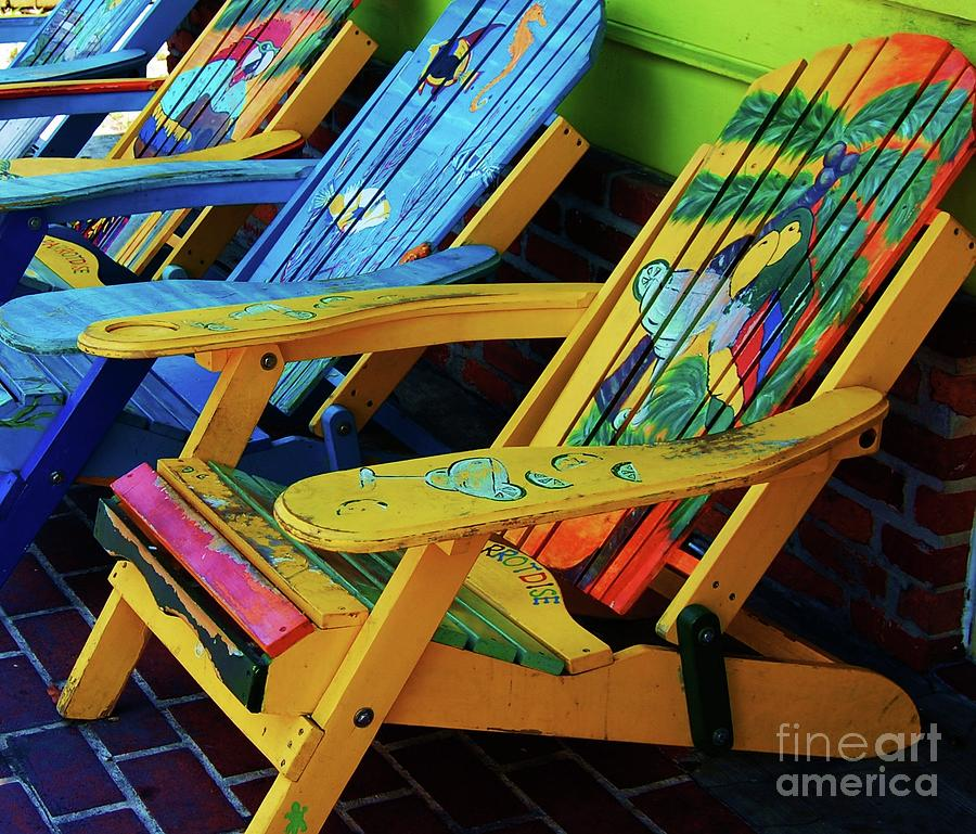 Chairs Photograph - Dont Worry Be Happy by Debbi Granruth