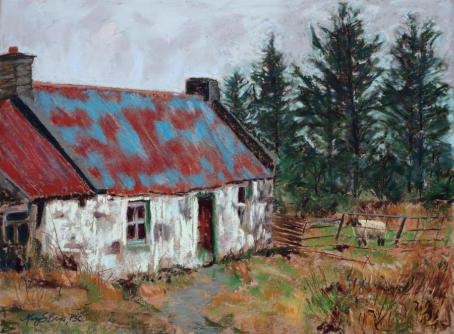 Ireland Painting - Dooish Hill Donegal Ireland by Mary Benke