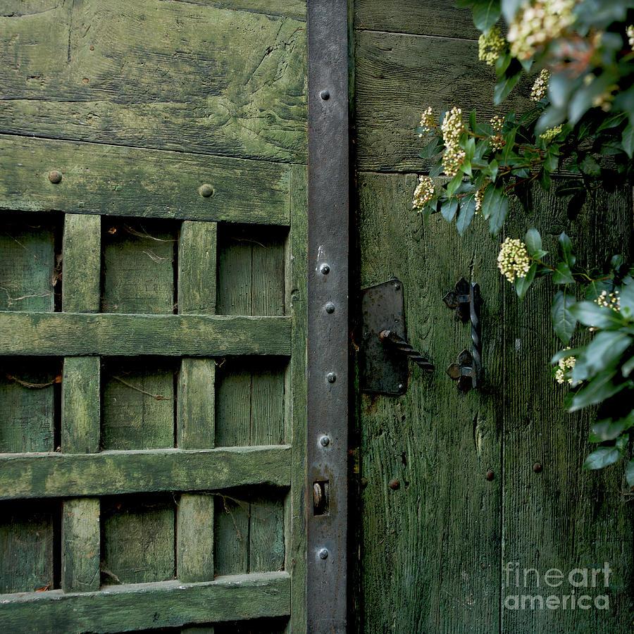 Green Photograph - Door With Padlock by Bernard Jaubert