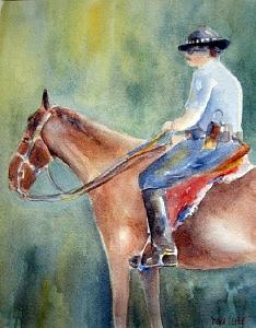 Watercolor Painting - Double Duty by Debra LePage