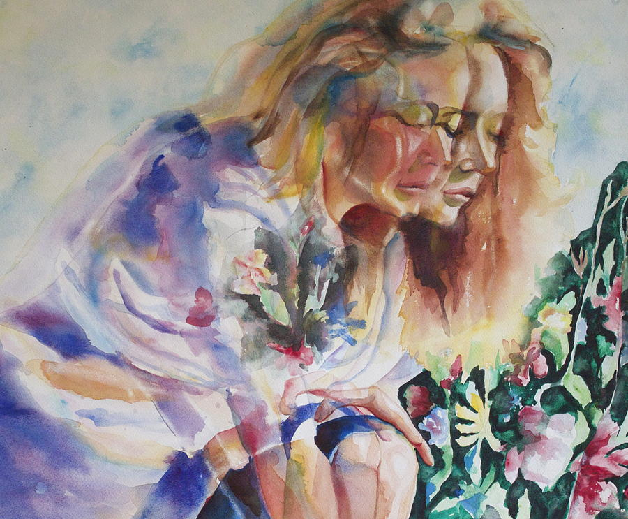 Abstract Painting - Double Erin by Catherine Foster