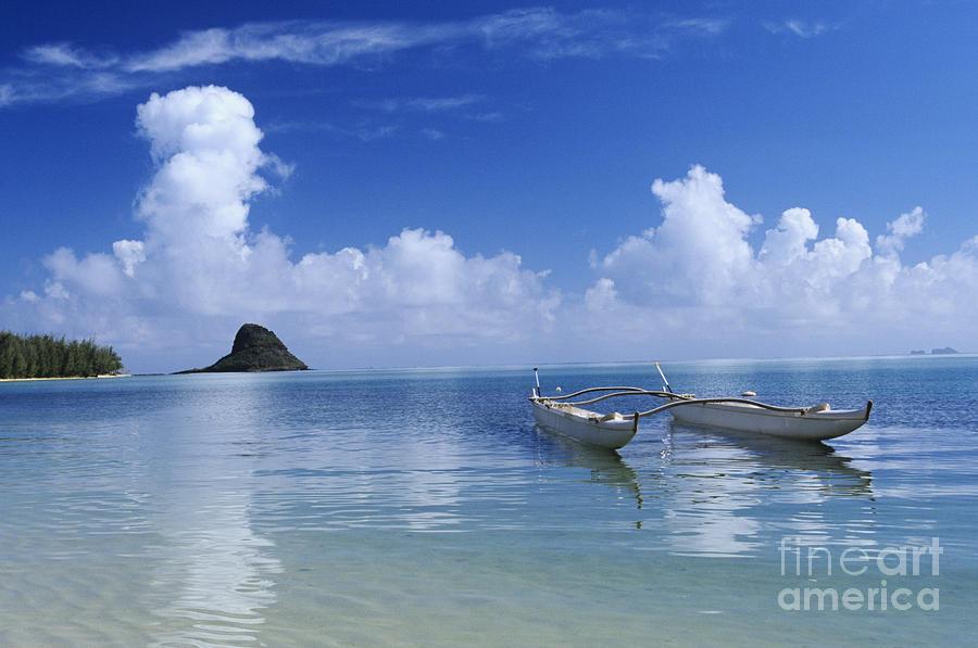 Aku Photograph - Double Hull Canoe by Joss - Printscapes