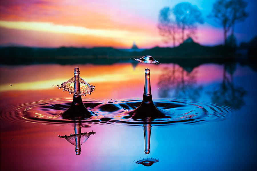Water Photograph - Double Liquid Art by William Lee